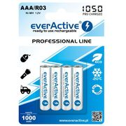 4x akumulatorki everActive R03/AAA Ni-MH 1000 mAh ready to use, EVHRL03-1000_bulk