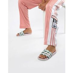 originals adilette slider sandals in pink palm print - pink marki Adidas