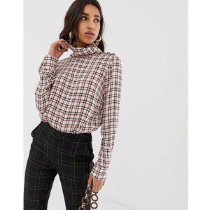 Gestuz Genova plaid rollneck top - Multi