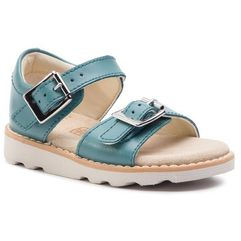 Sandały CLARKS - Crown Bloom T 261411276 Teal Leather