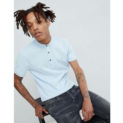 AllSaints Polo Shirt With Logo In Icing Blue - Blue, kolor niebieski