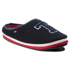 Tommy hilfiger Kapcie - badge homeslipper fm0fm01786 midnight 403