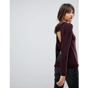 open back wool blend jumper - red marki H.one