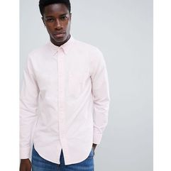 slim fit tonal icon logo oxford shirt in pink - pink, Abercrombie & fitch, XS-XXL