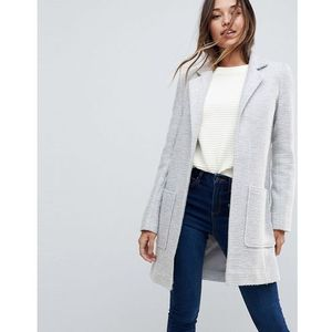 ASOS Slim Coat in Texture - Grey, kolor szary