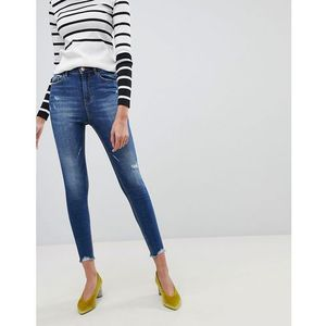 super high waist skinny jeans - blue marki Stradivarius