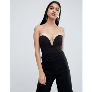 Lasula plunge front body in black - Black