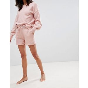 Micha Lounge Knitted Shorts With Roll Hem Co-Ord - Pink