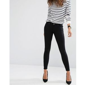 whitby low waist skinny jeans in clean black - black marki Asos