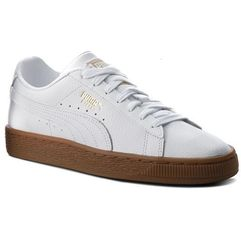 Sneakersy PUMA - Basket Classic Gum Jr 366668 02 Puma White/Metallic Gold