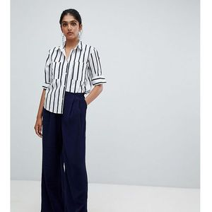 textured wide leg trouser - navy, Y.a.s tall