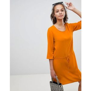 tie waist dress - orange marki Only