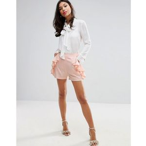 shorts with frill detail - pink, Fashion union