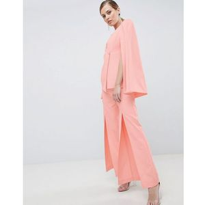tailored trouser with splits - pink, Lavish alice