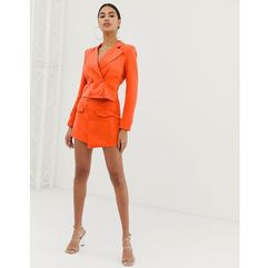 4th & reckless a line mini skirt in orange - orange, 4th + reckless