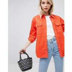 ASOS DESIGN cord shirt in orange - Orange, kolor pomarańczowy