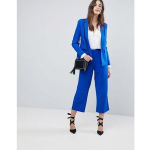 Fashion union wide leg tailored trousers co-ord - blue