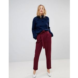 ASOS Woven Peg Trousers with Obi Tie - Red