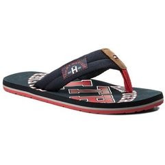 Japonki TOMMY HILFIGER - Essential Th Beach Sandal FM0FM01369 Midnight 403