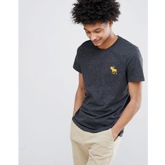 large moose logo crew neck t-shirt in black marl - black marki Abercrombie & fitch