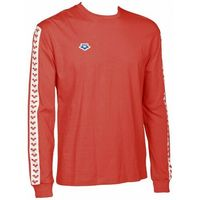 ARENA KOSZULKA UNISEX LONG SLEEVE TEAM ICONS RED-WHITE-RED, KOLOR: RED, MATERIAŁ: BAWEŁNA, ROZMIAR: M