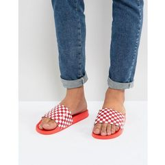 7x checkerboard sliders in red - red
