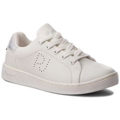 Sneakersy PEPE JEANS - Brompton Basic Girls PGS30359 White 800, kolor biały