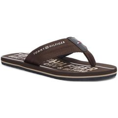 Japonki TOMMY HILFIGER - Smart Th Beach Sandal FM0FM01371 Coffee Bean 212, w 9 rozmiarach