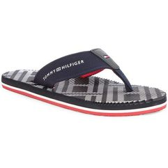 Japonki TOMMY HILFIGER - Corporate Stripe Beach Sandal FM0FM01366 Midnight 403, w 9 rozmiarach