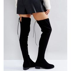 keep up wide fit extra wide leg over the knee boots - black, Asos