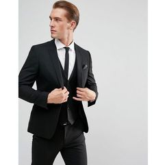 skinny suit jacket in black - black marki Asos design