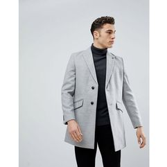 Burton menswear overcoat in light grey - grey