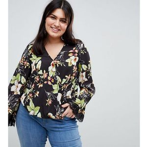 Lovedrobe printed wrap top - multi