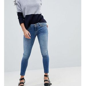 ASOS PETITE WHITBY Low Rise Skinny Jeans In Tatiana Wash - Blue, kolor niebieski