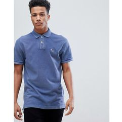 Abercrombie & Fitch Throwback Core Washed Out Polo Moose Icon Logo in Medium Blue - Blue, kolor niebieski