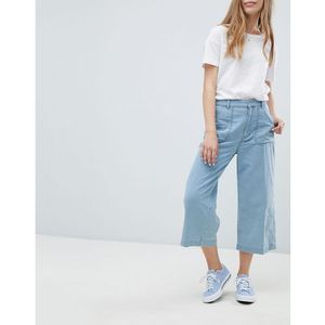 wide leg jeans in blue - blue, Pull&bear