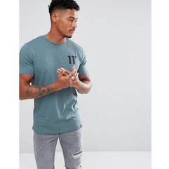 11 Degrees Muscle T-Shirt In Blue - Blue, w 2 rozmiarach