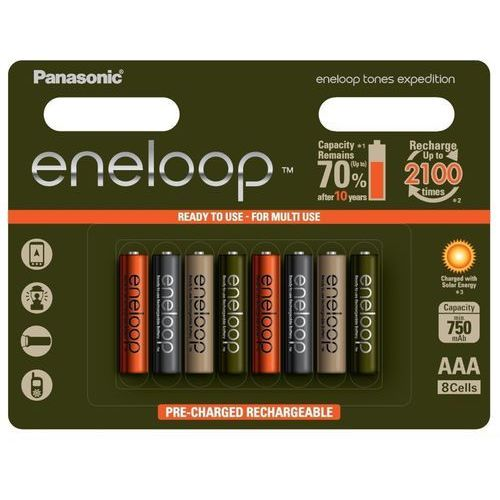 PANASONIC ENELOOP EXPEDITION R03/AAA 750 mAh - 8 szt blister