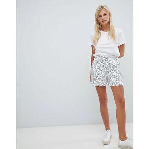spotty shorts - white marki Vila