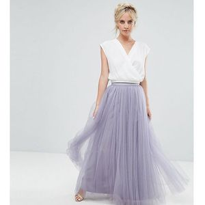 maxi tulle prom skirt - purple, Little mistress petite