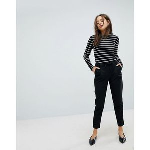 Pimkie tie waist tapered trousers - black