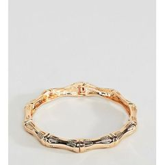 ASOS DESIGN Curve bangle bracelet with chunky textured vintage detail in gold - Gold