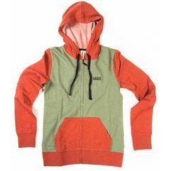 Vans bluza sportowa g link zip-up hoodie hthr sea spray xs