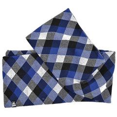 Szalik - check scarf black/white/ultra blue (0179) marki K1x