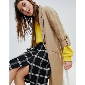 waterfall trench - tan, Bershka, 36-40