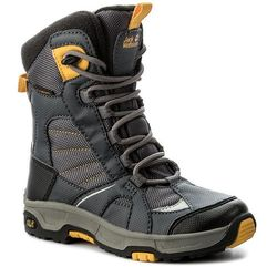 Śniegowce JACK WOLFSKIN - Boys Snow Ride Texapore 4012042 Burly Yellow Xt M, kolor szary