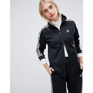Adidas originals three stripe track jacket in black - black