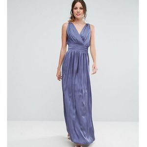 wrap front strappy maxi dress - purple, Little mistress tall