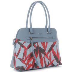 79fe46b028d61 firmowe torebki damskie kuferek z modnymi wzorami wykonany z wysokiej  jakości skóry ekologicznej błękitny (kolory