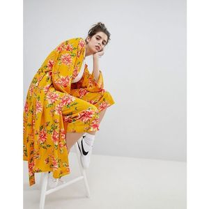 wide leg trousers in vintage bloom co-ord - yellow marki Neon rose